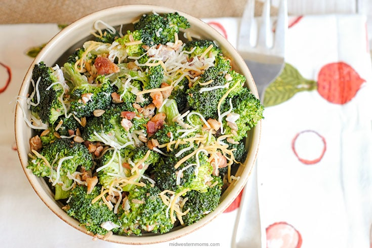 Finished Cold Broccoli Salad