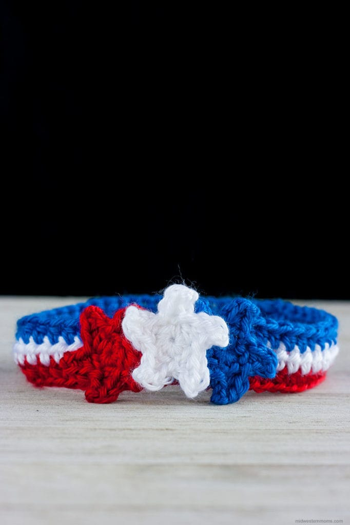 Patriotic Crochet Headband Pattern with Stars