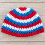 Patriotic Crochet baby hat pattern for a boy