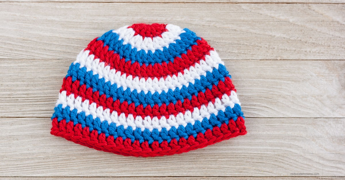 Patriotic Crochet Hat Pattern For A Boy