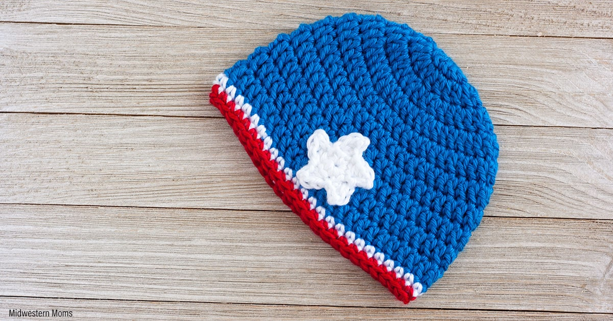 Patriotic Crochet Hat Pattern for a Girl
