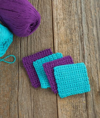 Easy Crochet Coaster Pattern. Perfect for Beginners.