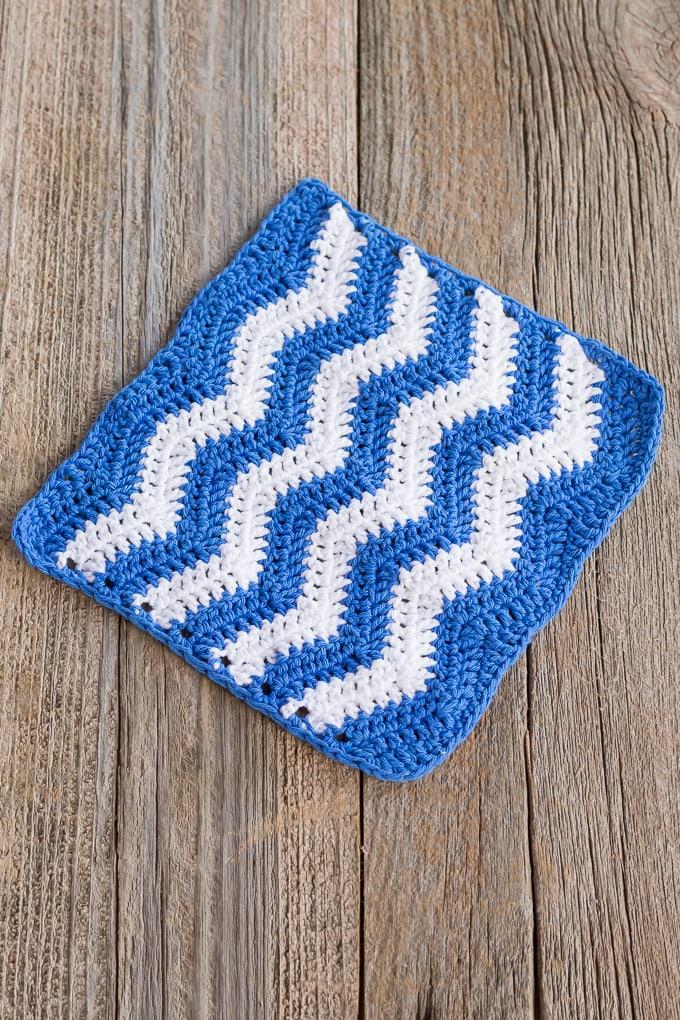 Crochet ripple stitch pattern
