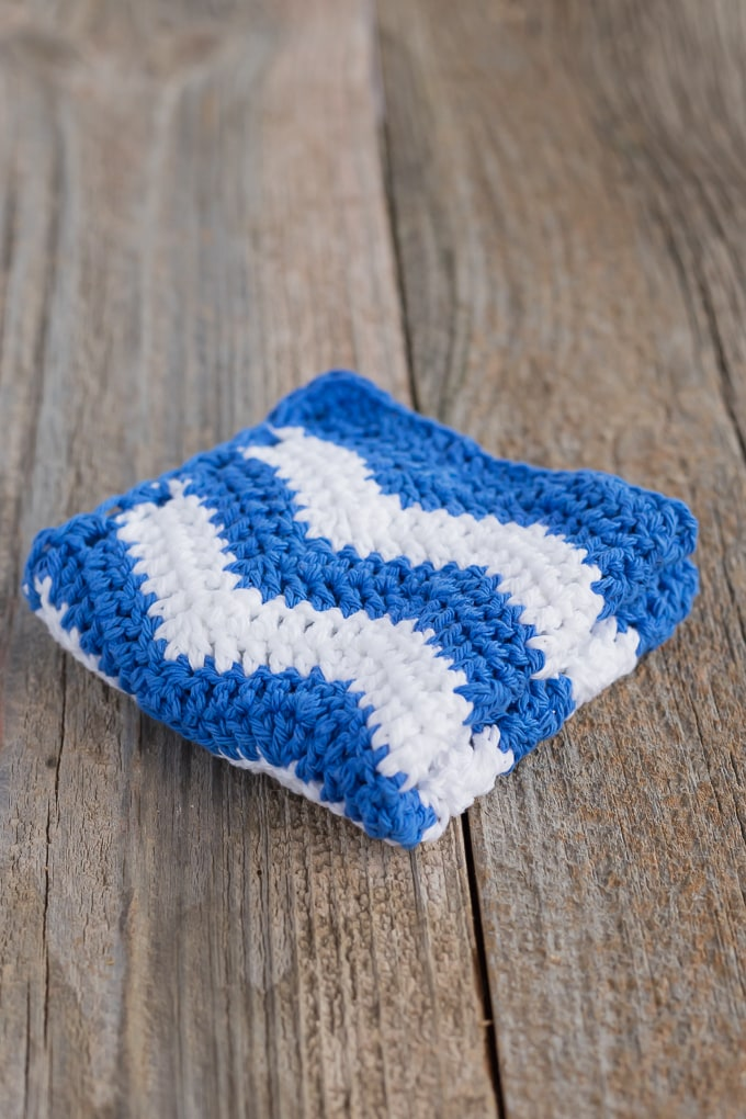 Free Ripple Crochet Dishcloth Pattern