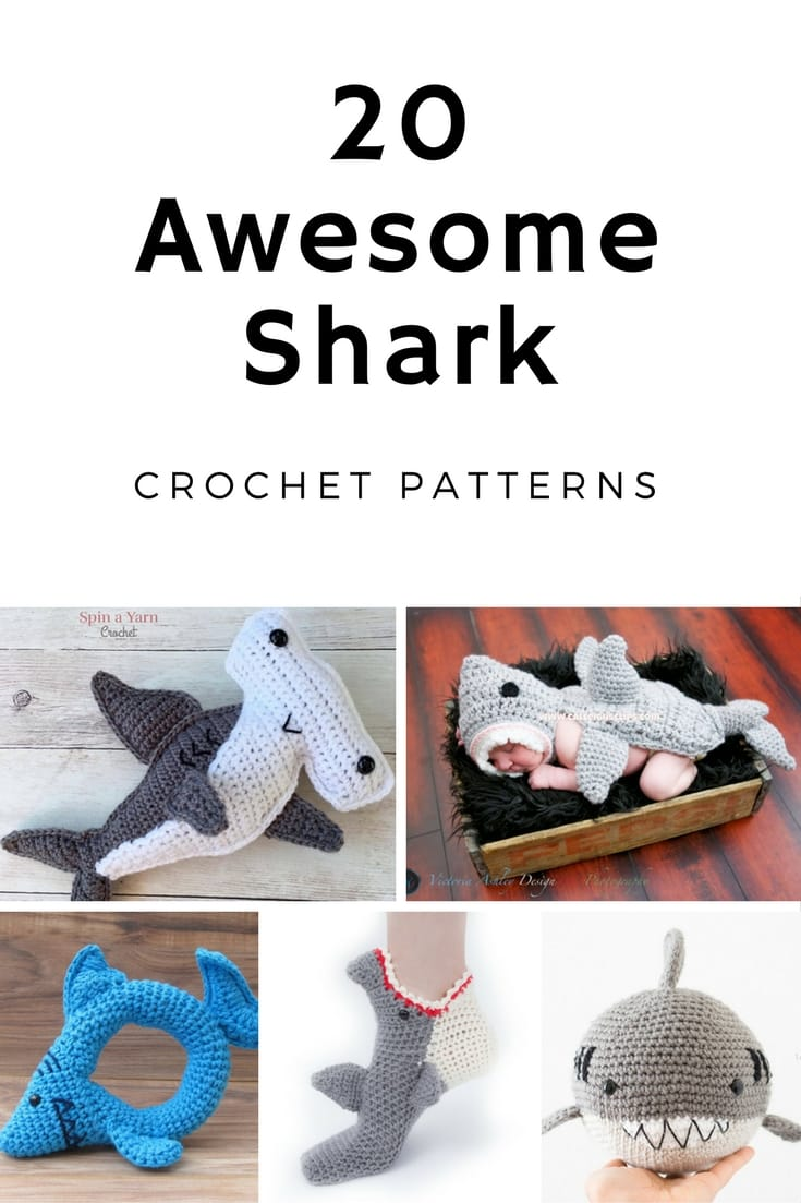 Find the perfect Shark crochet patterns for Shark Week here! There are 20 awesome patterns to choose from!