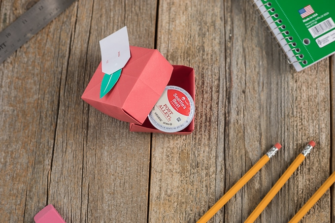 Make a cute Apple Box and place a K-Cup for a great back to school gift for a teacher!