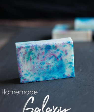Homemade Galaxy Soap