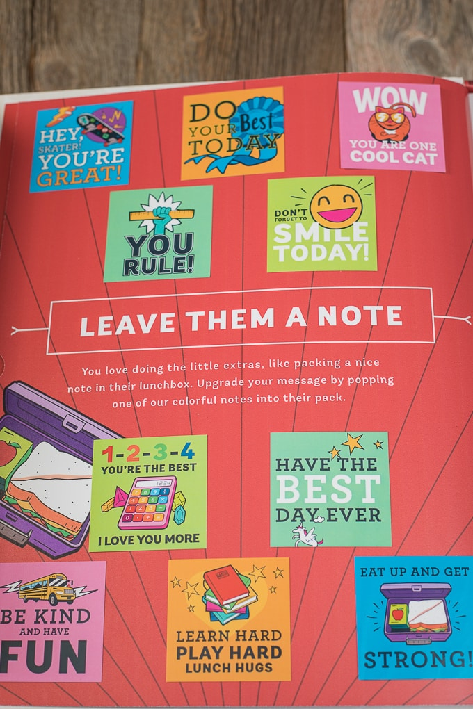 Lunch Box Notes for School!