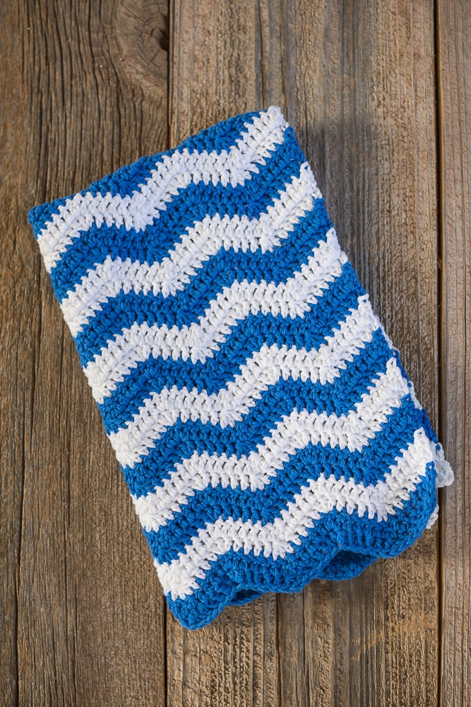 Ripple Crochet Dish Towel Pattern
