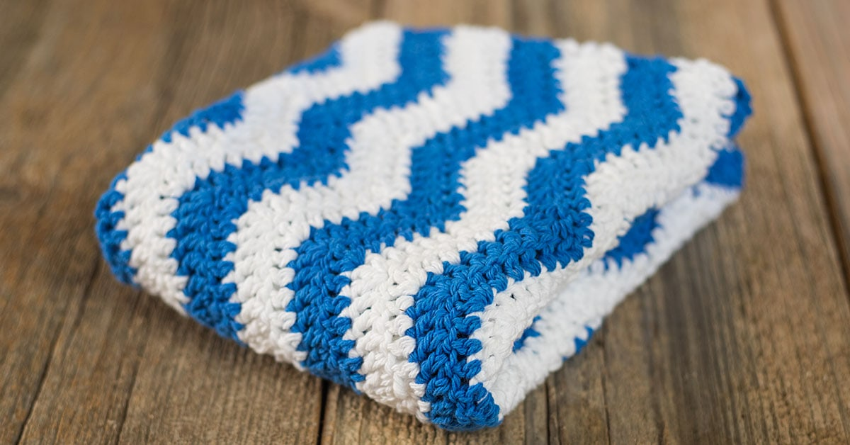 Ripple Crochet Dish Towel Pattern