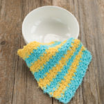 Scrubby Moss Stitch Crochet Dishcloth Pattern