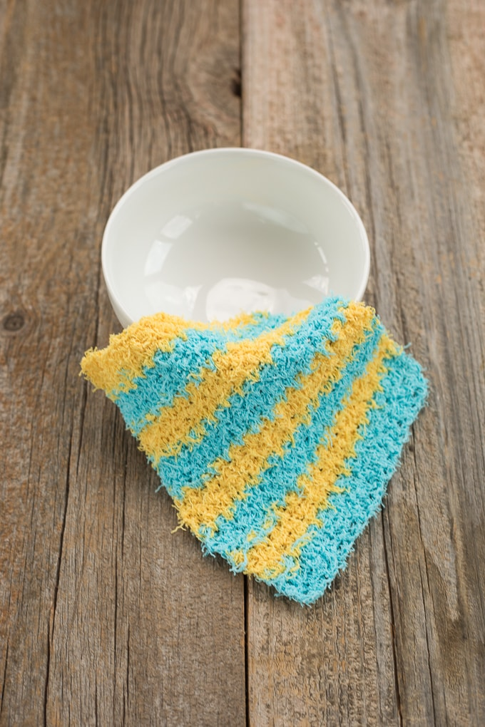 Scrubby Moss Stitch Dishcloth Pattern