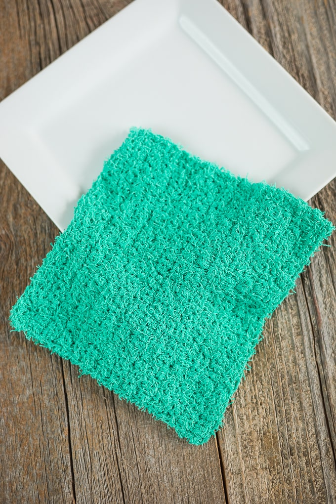 Simple Crochet Scrubby Dishcloth Pattern