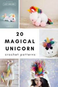 20 Magical Unicorn Crochet Patterns
