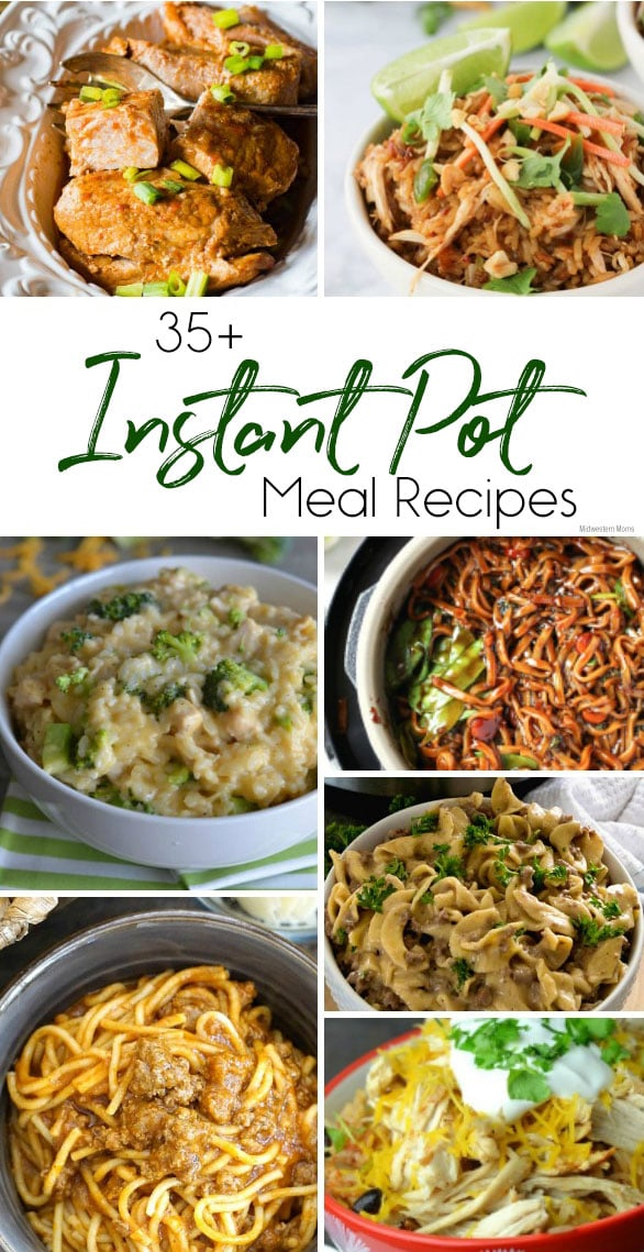 Collage of Instant Pot Meal Recipes