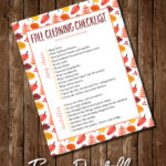 Fall Deep Cleaning Printable Checklist