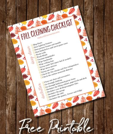 Free Printable Fall Deep Cleaning Checklist