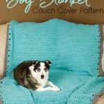 Simple Crochet Dog Blanket Couch Cover Pattern