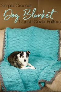 crochet dog blanket