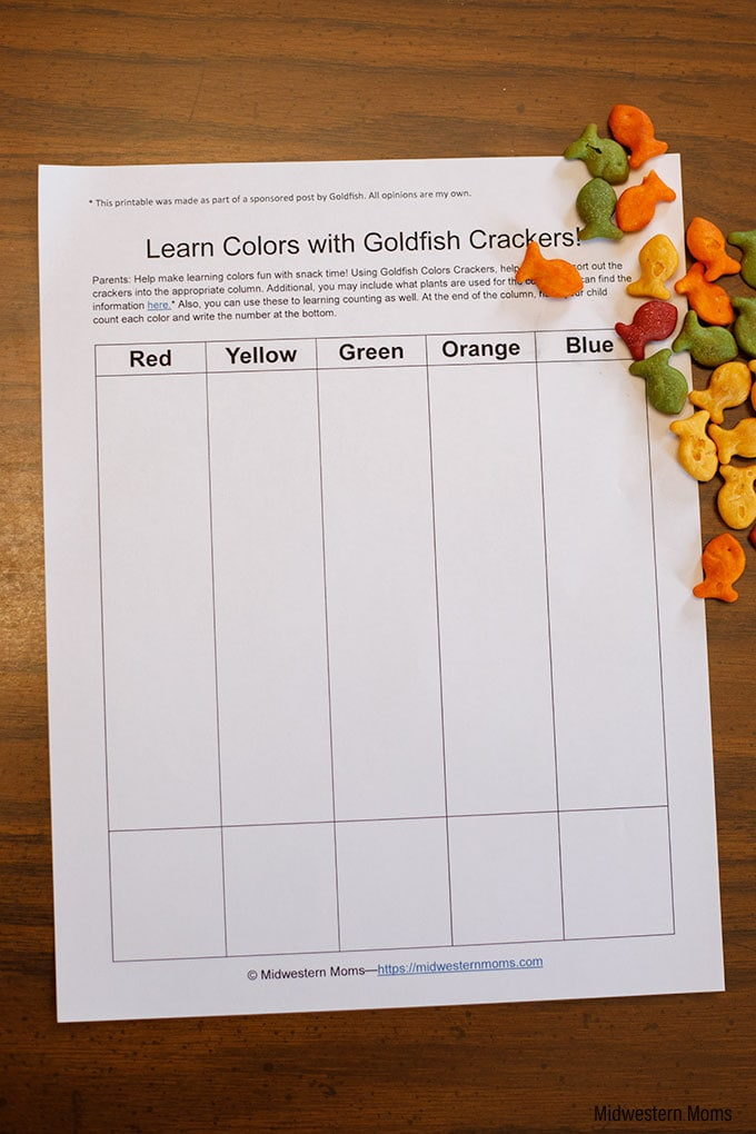 Goldfish printable example