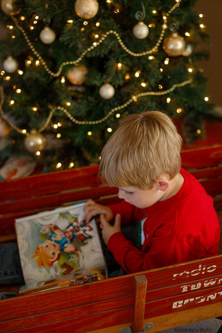 Boy enjoying his Radio Flyer Adventure Book