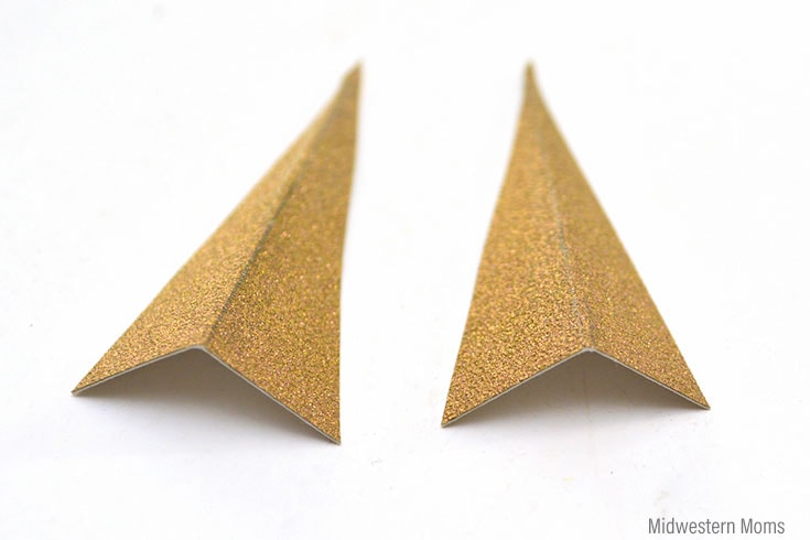 Folded arrow tips.