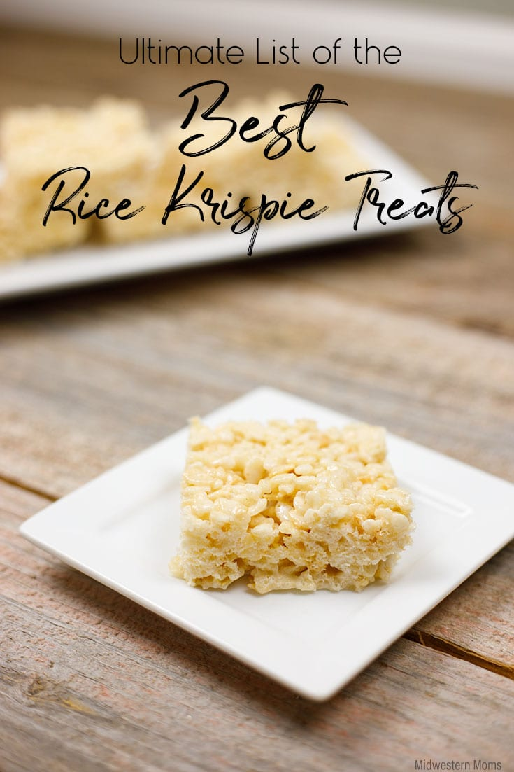 Want the best rice krispie treats recipe? This ultimate list of recipes - including THE best EVER! Don't miss out on the tips and tricks for these yummy treats.