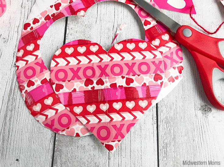 Cut a heart shape out to make a valentine