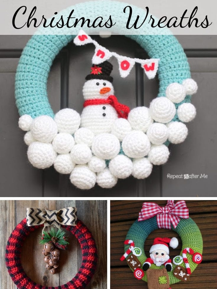 Crochet Christmas wreath patterns