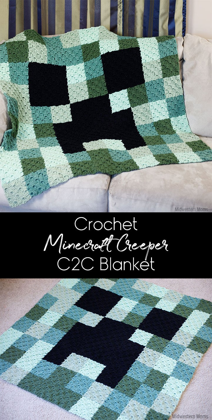 Crochet Minecraft Creeper Blanket Make A Minecrafter Explode From