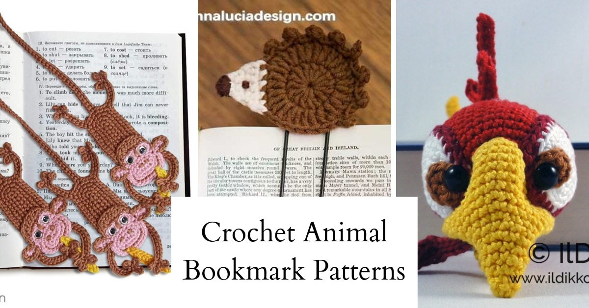 Amigurumi Crochet Mouse Bookmark -
