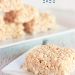 The BEST Rice Krispie Treat Recipe EVER!