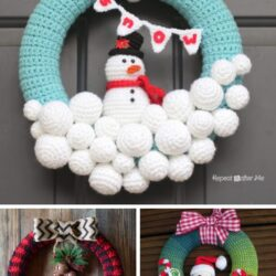 Crochet Christmas wreath patterns
